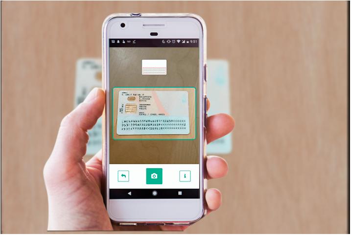 Captura e digitalização de documentos de identificação